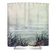 Misty Morning On Lawrencetown Beach Shower Curtain