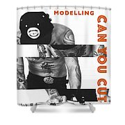 Modelling Can You Cut It? Shower Curtain by ISAW Company