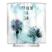 Modern Art Take Me To The Sea - Jazzy Watercolor Shower Curtain