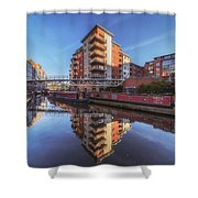 Modern Canal Living Shower Curtain