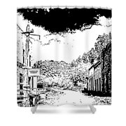 Mogollon New Mexico Ghost Town Shower Curtain