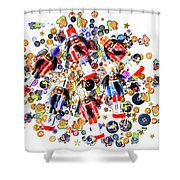 Monster Toy Soldiers Shower Curtain