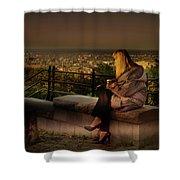 Mont-royal Sunset Shower Curtain by Juan Contreras