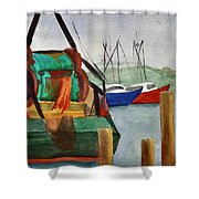 Montauk Dock W Shower Curtain