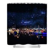Monterey Bay At Night Shower Curtain