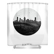 Montreal Skyline Caqcmo04 Shower Curtain