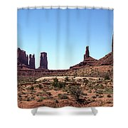 Monument Cluster Shower Curtain