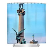 Monument To Adam Mickiewicz Shower Curtain by Fabrizio Troiani