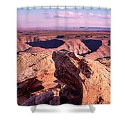 Monument Valley At A Distance Shower Curtain