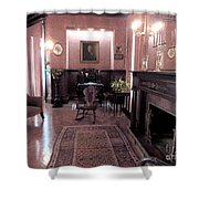 Moody Mansion Study Shower Curtain