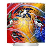 Moon Dance 4 Shower Curtain
