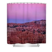 Moonrise Over The Hoodoos Bryce Canyon National Park Utah Shower Curtain by Dave Welling