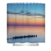 Moonset On Lake Superior Shower Curtain