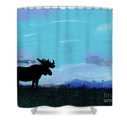 Moose - At - Sunset Shower Curtain