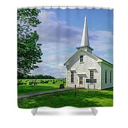 Moose Brook Chapel Shower Curtain