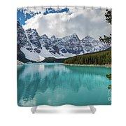 Moraine Lake Range Shower Curtain