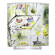Morning By The Artist Catalina Lira Shower Curtain