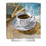 Morning Coffee Shower Curtain by Clint Hansen
