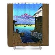 Morning In Yobuko, Hizen - Digital Remastered Edition Shower Curtain
