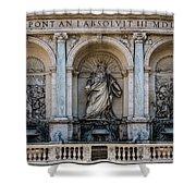 Moses Fountain Shower Curtain by Jaroslaw Blaminsky