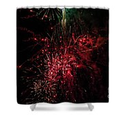 Mostly Red And White Fireworks Shower Curtain