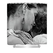 Mother And Child Shower Curtain by Catherine Sobredo