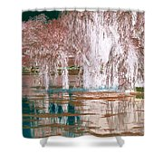 Mother Willow Altered Infrared Shower Curtain