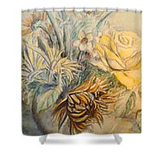 Mother's Day Flower Shower Curtain