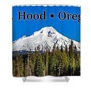 Mount Hood Oregon In Winter 02 Shower Curtain