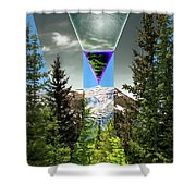 Mount Lincoln's Locus Shower Curtain