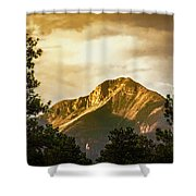 Mount Pagosa Gold Shower Curtain