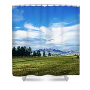 Mount Pagosa Meadow Shower Curtain