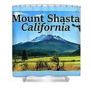 Mount Shasta California Shower Curtain