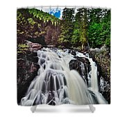 Mount Tremblant Waterfall Shower Curtain