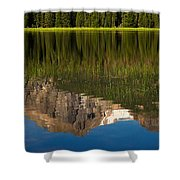 Mountain Reflection In Beirstadt Lake Shower Curtain