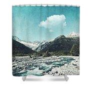 Mountain River Shower Curtain
