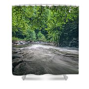 Mountain Stream In Summer #1 Shower Curtain by Tom Claud