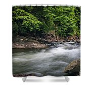 Mountain Stream In Summer #3 Shower Curtain by Tom Claud