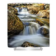 Mountain Stream Waterfall  Shower Curtain