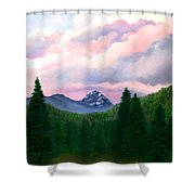 Mountain And Sky Shower Curtain