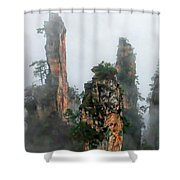 Mountains In The Sky Shower Curtain
