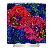 Moving Flowers Shower Curtain