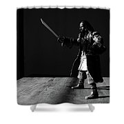 Blackbeard The Pirate Shower Curtain