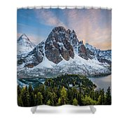 Mt Assinniboine Sunset Shower Curtain