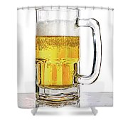Mug Of Beer Shower Curtain