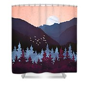 Mulberry Dusk Shower Curtain