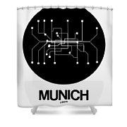 Munich Black Subway Map Shower Curtain