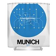 Munich Blue Subway Map Shower Curtain