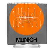 Munich Orange Subway Map Shower Curtain