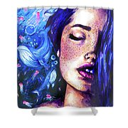 Music Of The Ocean Shower Curtain